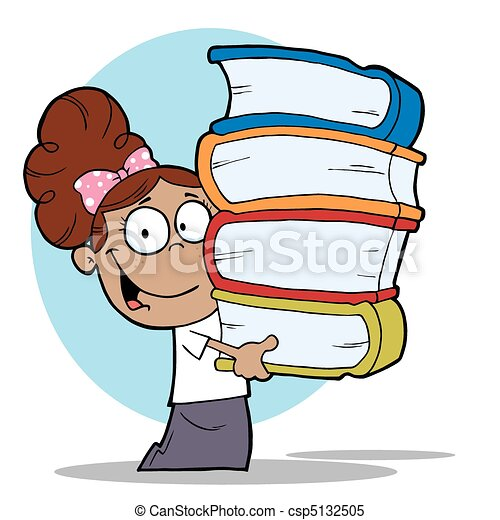 smart hispanic school girl carrying a stack of books clipart vector rh canstockphoto com hispanic heritage clipart hispanic heritage clipart