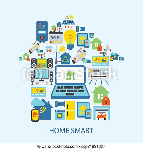 Smart Home Icons Set   Csp21991327