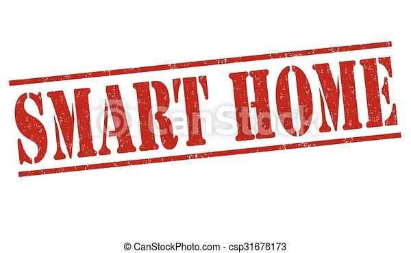 Smart home stamp - csp31678173