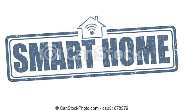 Smart home stamp - csp31678379