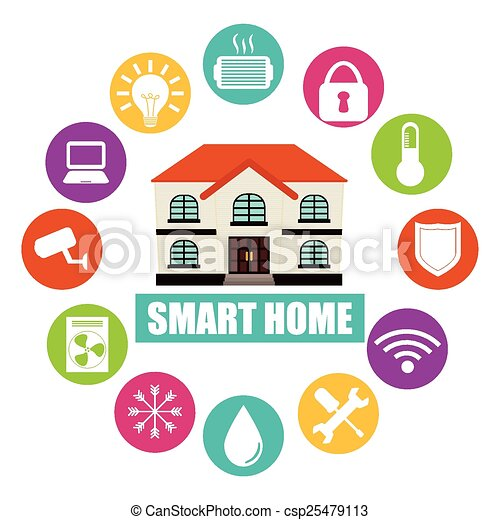 Smart home design, vector illustration eps10 graphic .