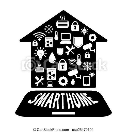 Smart home design, vector illustration eps10 graphic vector clipart ...