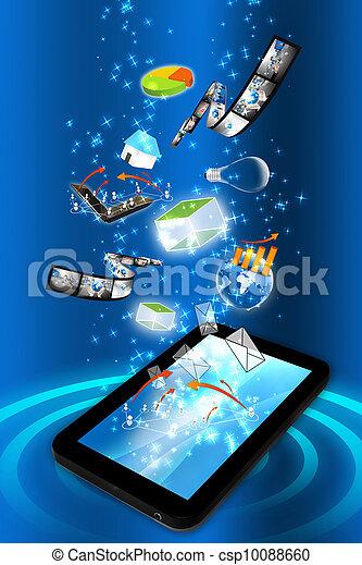 smart, idé, ringa, många - csp10088660