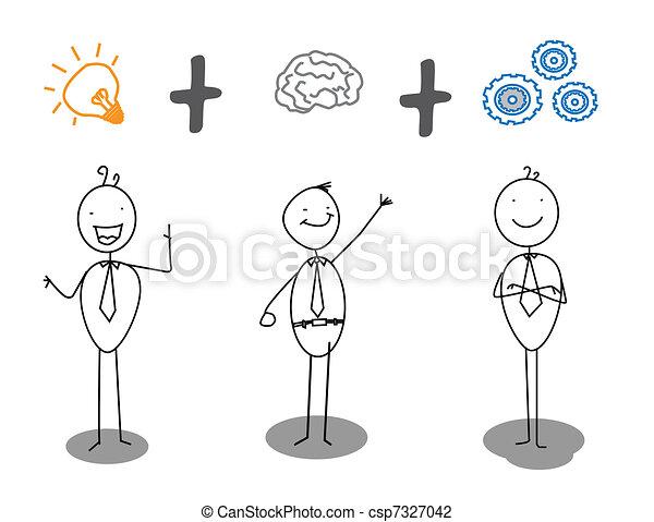 smart   idea   work progress  - csp7327042