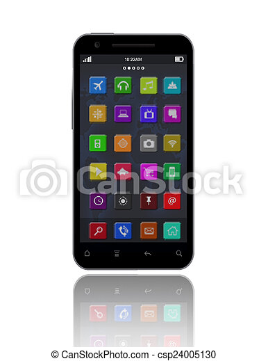 Smart Phone and Apps - csp24005130