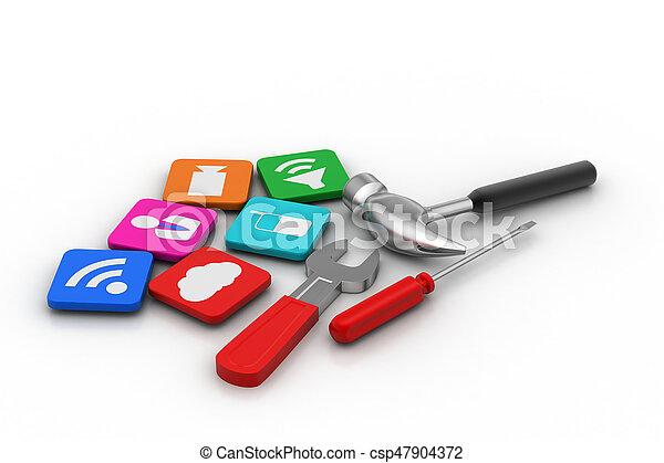 Smart phone apps - csp47904372