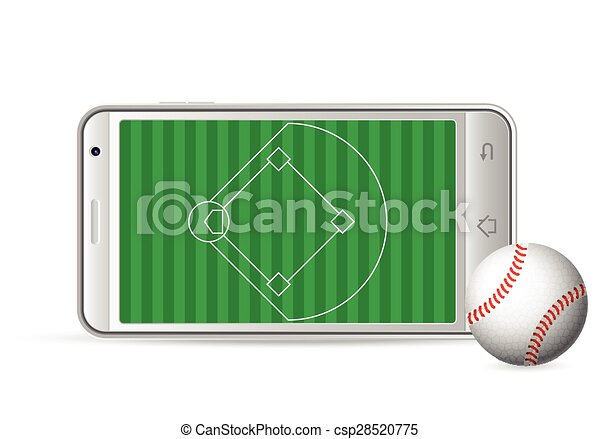 smart phone baseball - csp28520775