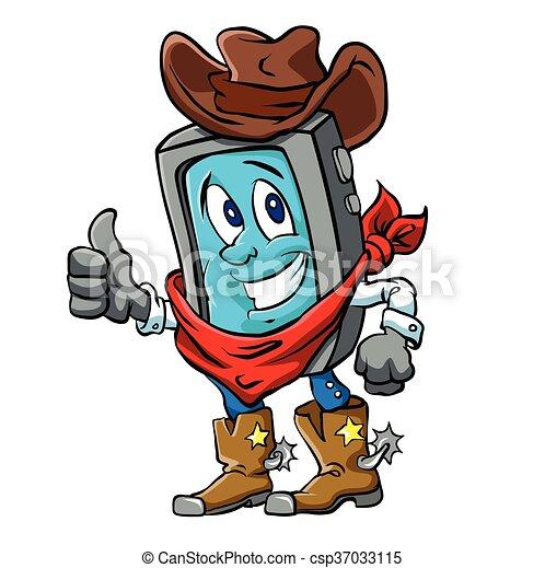 Smart phone cowboy - csp37033115