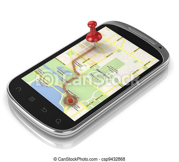 smart phone navigation - mobile gps - csp9432868