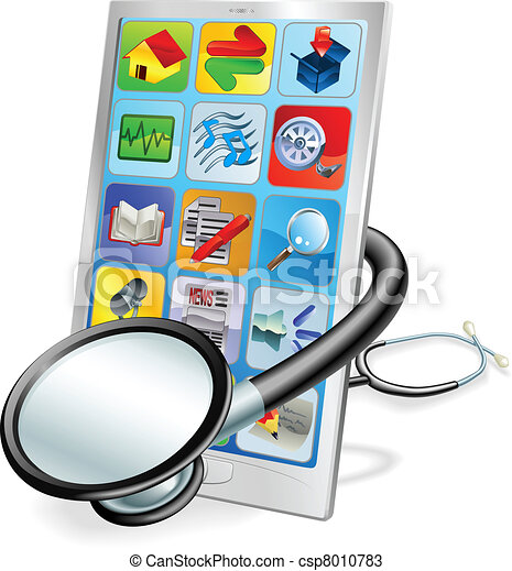Smart phone or tablet pc health check concept - csp8010783