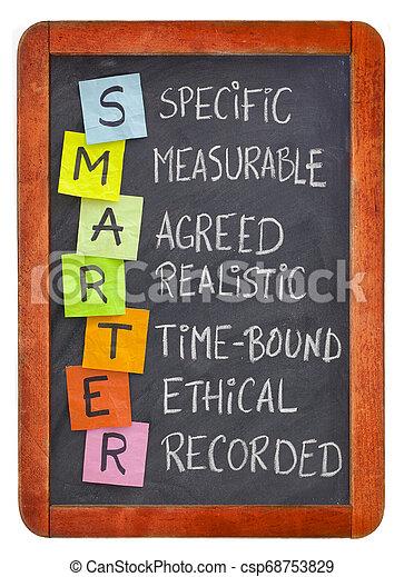 smart (smarter) goal setting - csp68753829
