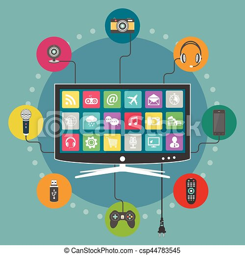 Smart TV flat design - csp44783545