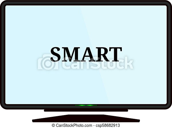 Smart tv icon. Vector concept illustration for design. - csp58682913