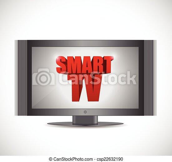 smart tv illustration design - csp22632190