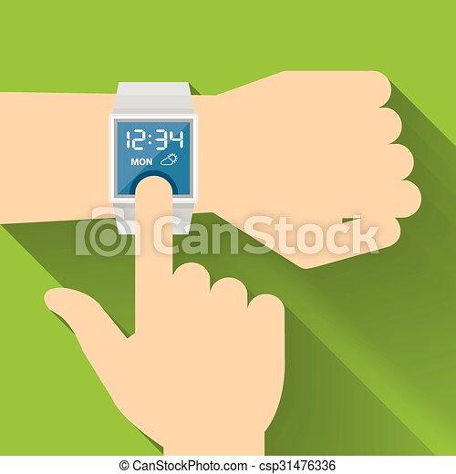 Smart Watch, Flat design - csp31476336
