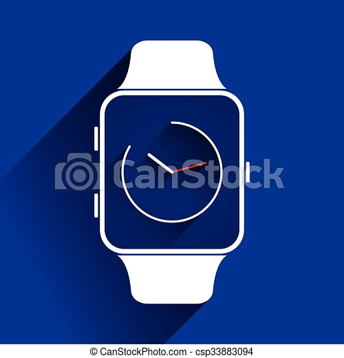 Smart watch icons, flat concept - csp33883094