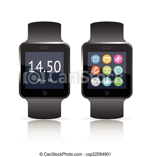 Smart watch vector illustration - csp22584901