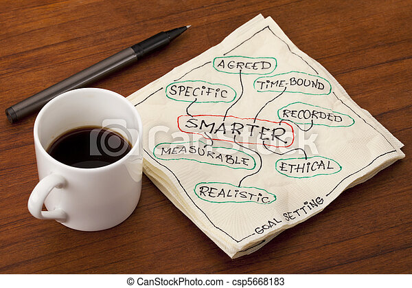 smarter goal setting - csp5668183