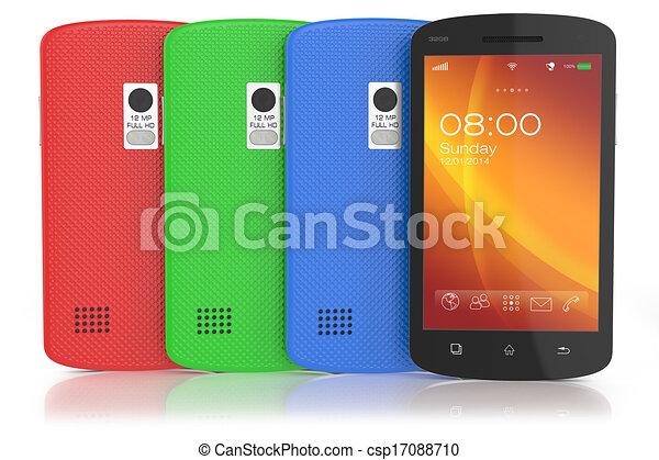 Grupo de smartph de pantalla táctil moderna - csp17088710