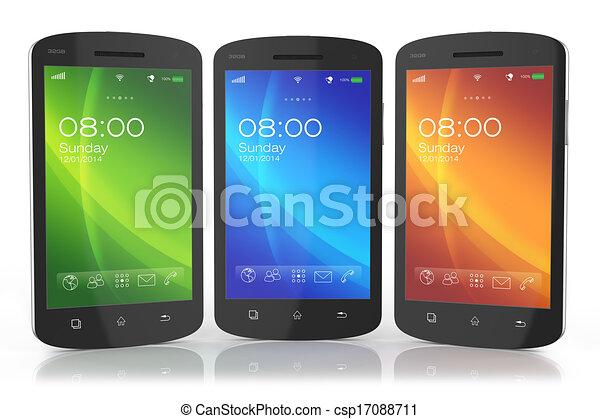 Grupo de smartph de pantalla táctil moderna - csp17088711