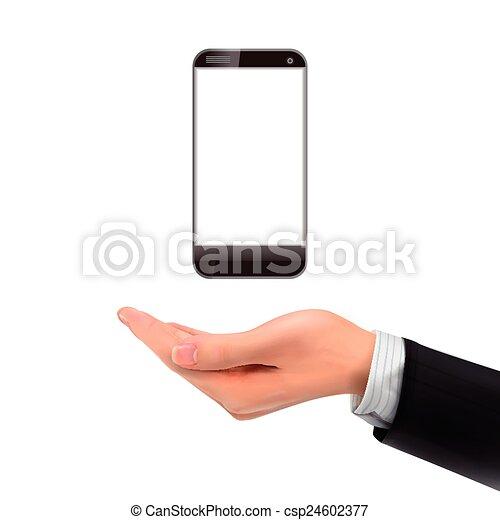smartphone, 3d, tenant main - csp24602377