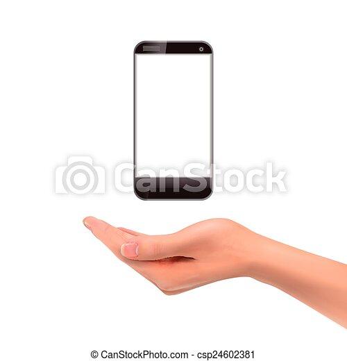 smartphone, 3d, tenant main - csp24602381