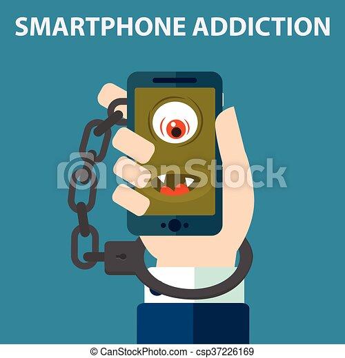 smartphone, algemas, vício - csp37226169