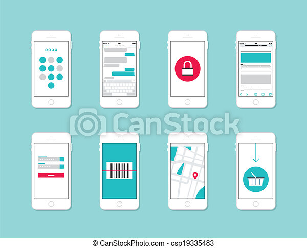 Smartphone application interface elements - csp19335483