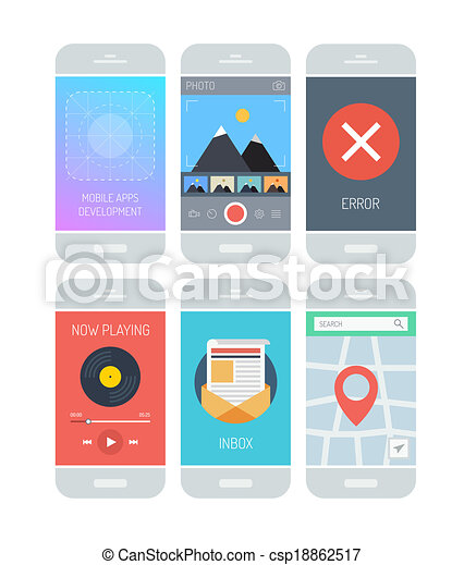 Smartphone application interface elements - csp18862517