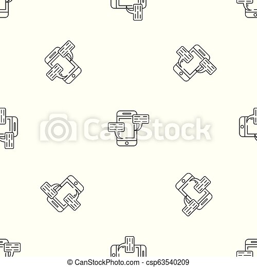 Smartphone chat pattern seamless vector - csp63540209