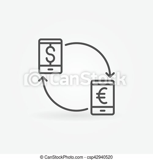 Smartphone currency converter icon