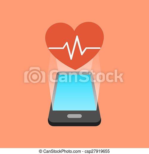 Smartphone fitness app concept. isometric design. vector ...