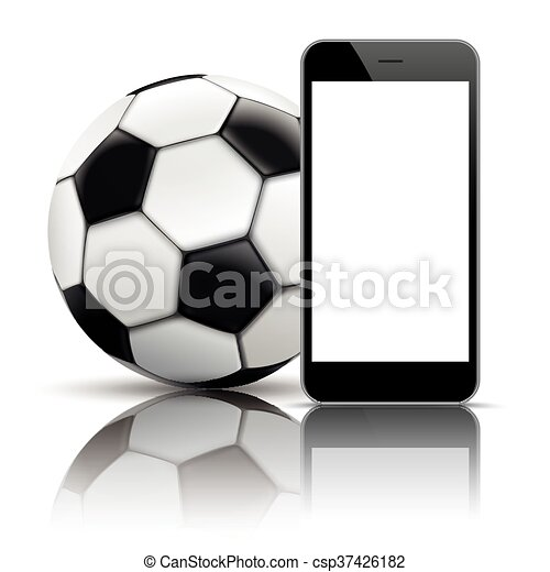 Smartphone Football Mirror Mockup - csp37426182