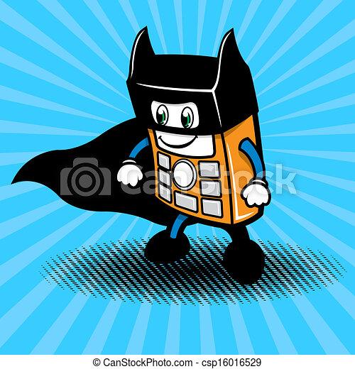 Ilustración de teléfonos superhéroes - csp16016529