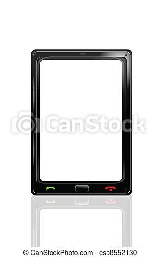 Smartphone icon isolated on white - csp8552130