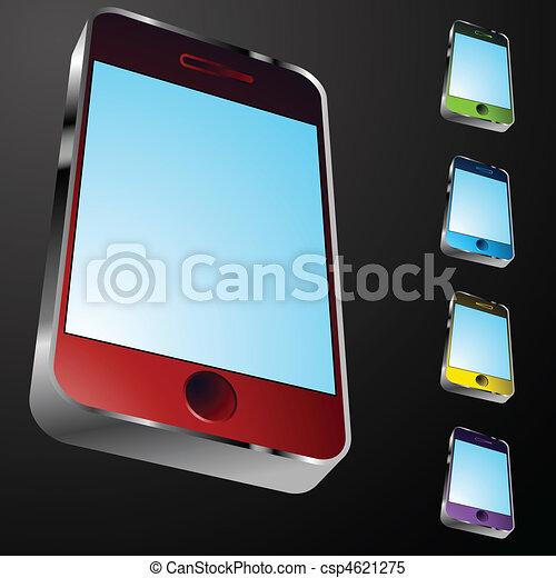 Un ícono de teléfono inteligente - csp4621275