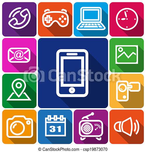 Smartphone icons - csp19873070
