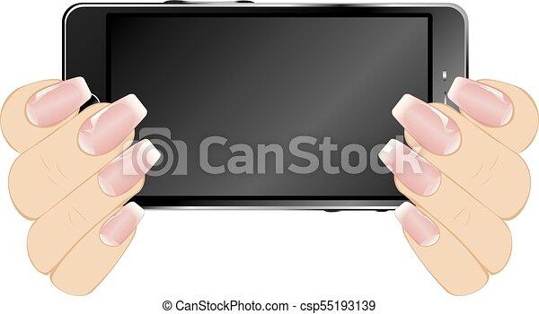 Smartphone in Hands - csp55193139