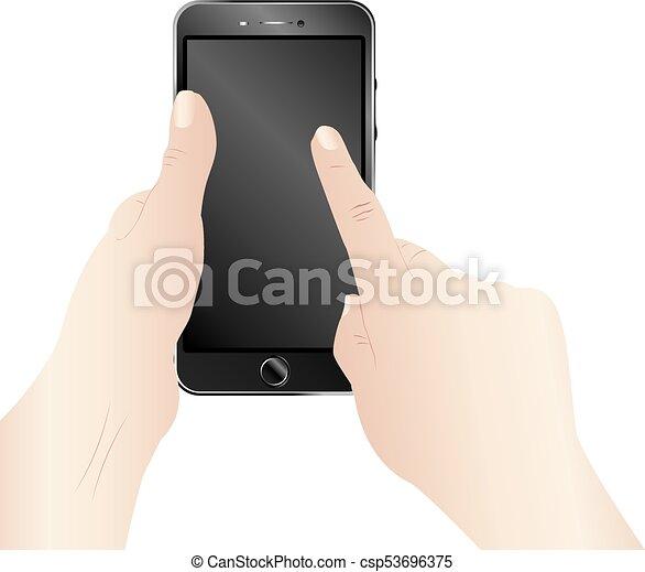 Smartphone in Hands - csp53696375