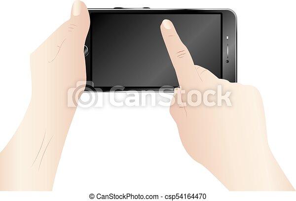Smartphone in Hands - csp54164470