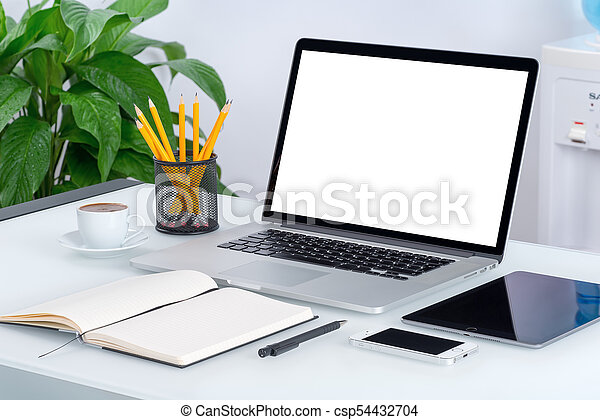 Smartphone informatique bureau tablette mockup ordinateur