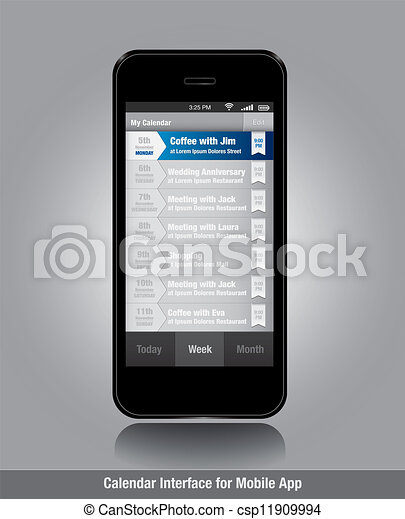 El teléfono inteligente con las tareas de lista de plantillas para los aparatos móviles - csp11909994