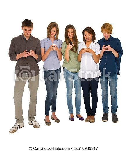 smartphone, nastolatki - csp10939317