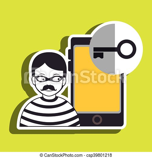 smartphone security protection hacker vector illustration eps 10 can stock photo