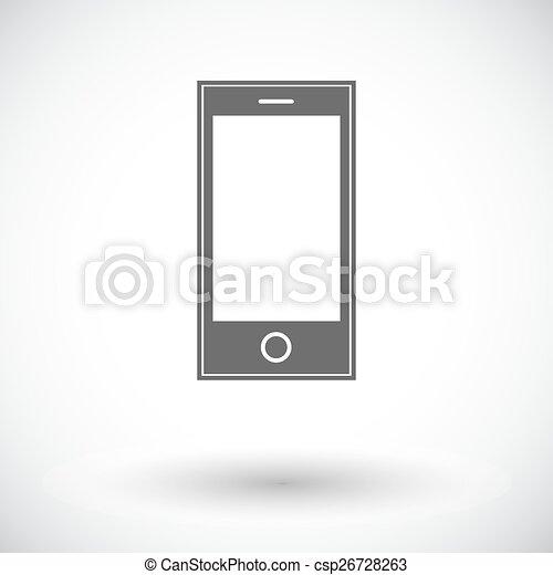 Smartphone single icon. - csp26728263