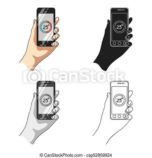 Smartphone, single icon in cartoon style.Smartphone, vector symbol stock illustration web. - csp52859924