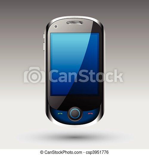 smartphone, vetorial, editable, arquivo - csp3951776
