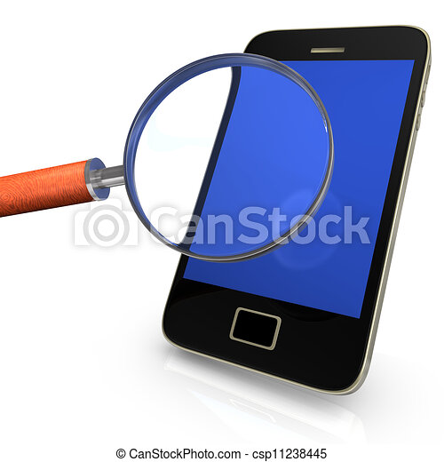 Smartphone With Loupe - csp11238445