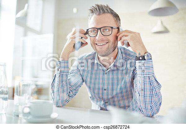 smartphones, man - csp26872724