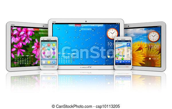 Computadoras y teléfonos inteligentes - csp10113205
